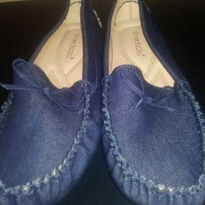 Denim slide on Shoes